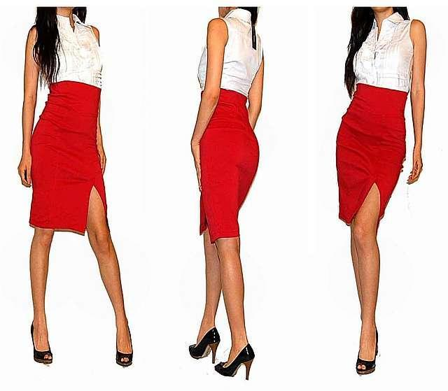 З чим носити червону спідницю