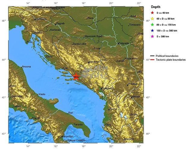 Землетрус з магнітудою 4,4 по шкалі Ріхтера в Хорватії